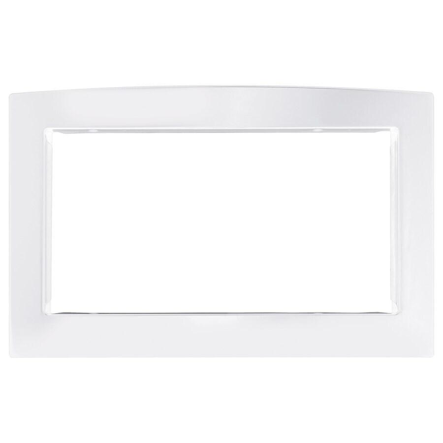 GE 30-in White Built-In Microwave Trim Kit