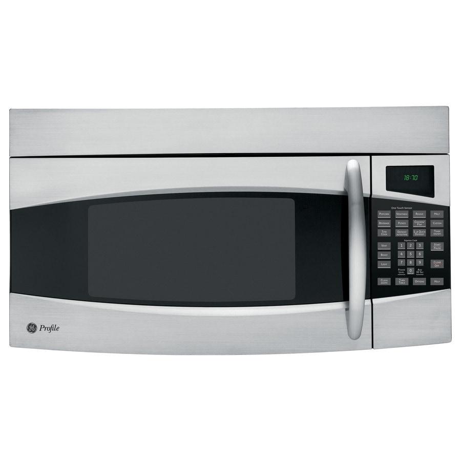 GE Profile 1.8-cu Ft Over-the-Range Microwave With Sensor