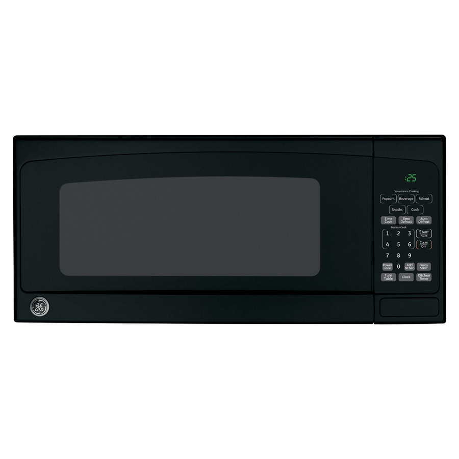 GE 1-cu ft 800-Watt Countertop Microwave (Black)