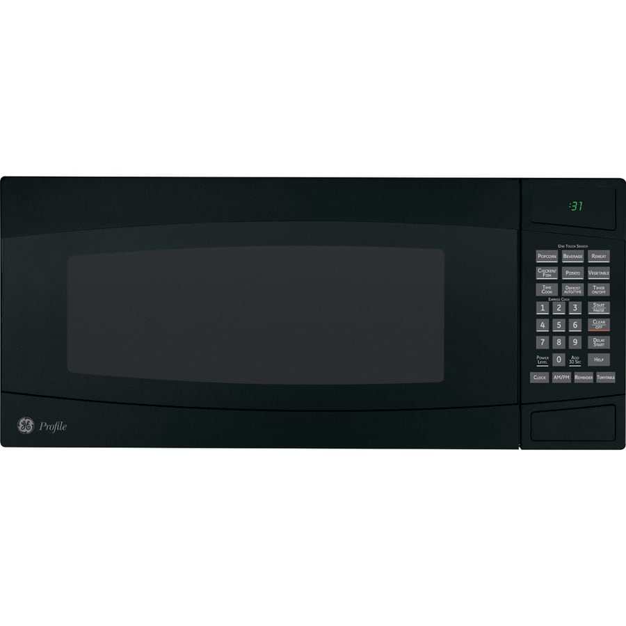 GE Profile 1-cu ft 800-Watt Countertop Microwave (Black)
