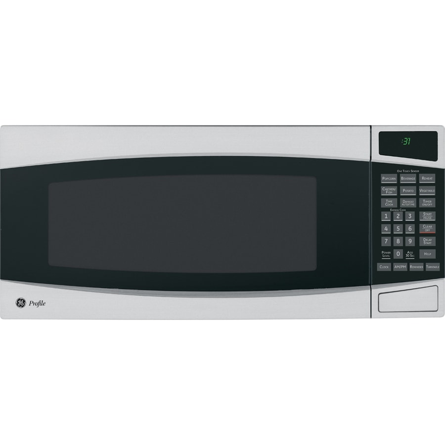 GE Profile 1-cu ft 800-Watt Countertop Microwave (Stainless)