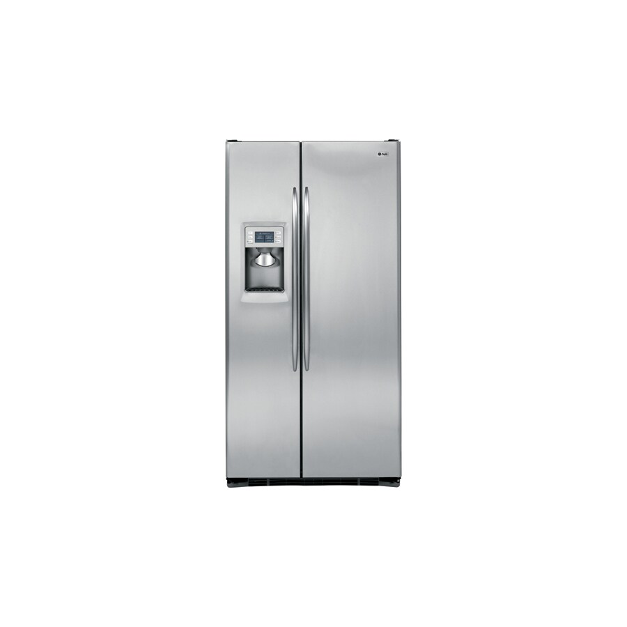 GE Profile 24.6-cu ft Side-By-Side Counter-Depth Refrigerator with Single Ice Maker (Stainless Steel) ENERGY STAR