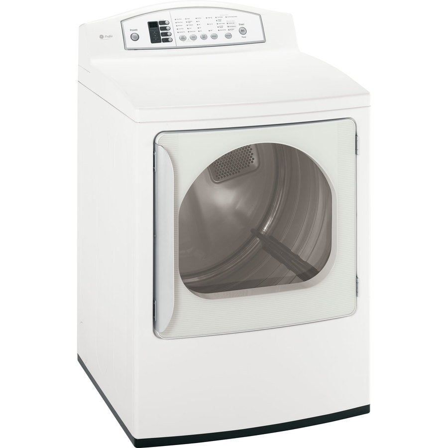 ft electric dryer color white