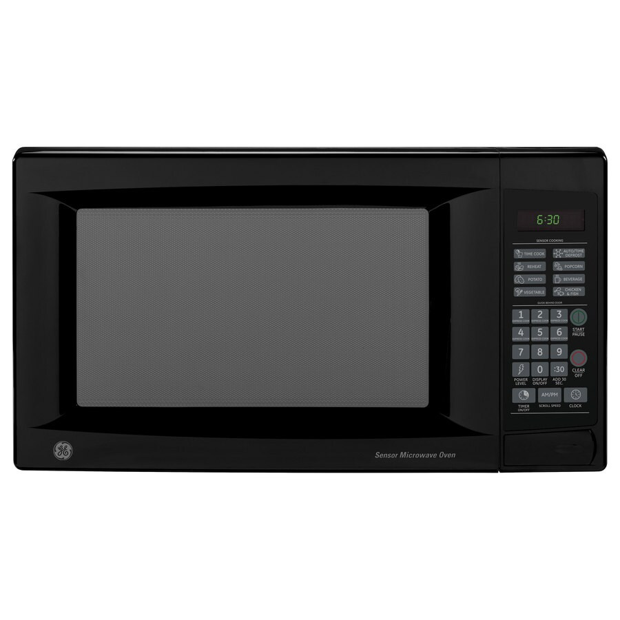 Ge 1 4 Cu Ft 1 100 Watt Countertop Microwave Black At