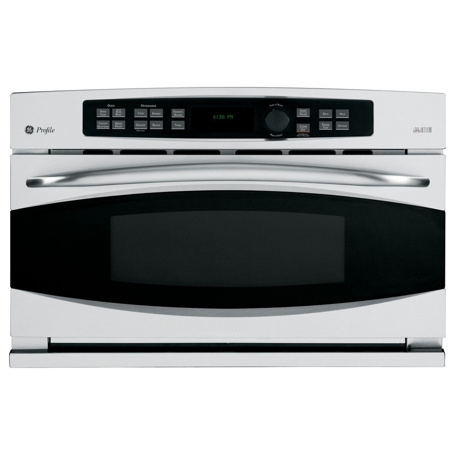 Ge Profile 1 7 Cu Ft Built In Convection Microwave With Sensor Cooking Controls