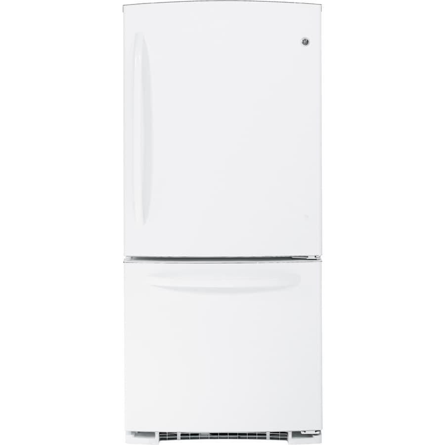 GE 20.3 cu ft Bottom Freezer Refrigerator (White) ENERGY STAR