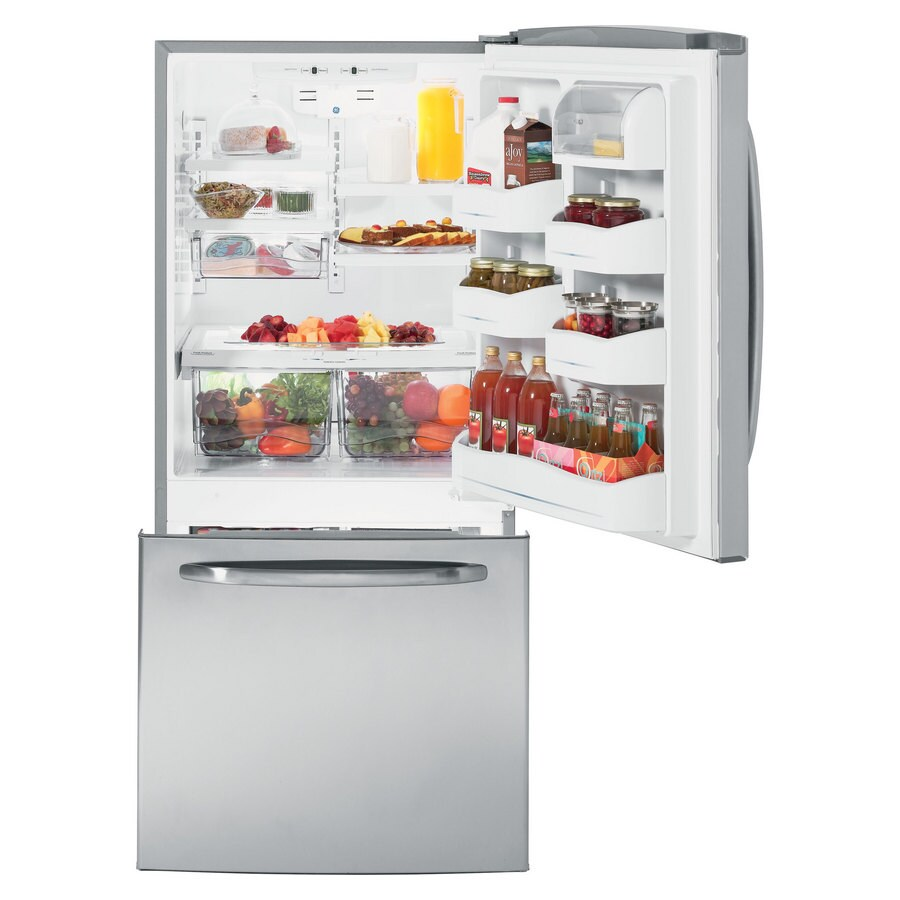 GE 20.2 cu ft Bottom Freezer Refrigerator (Stainless Steel) ENERGY STAR