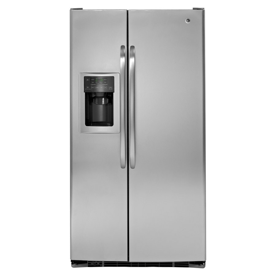 Shop GE 25.4-cu ft Side-by-Side Refrigerator with Ice ...