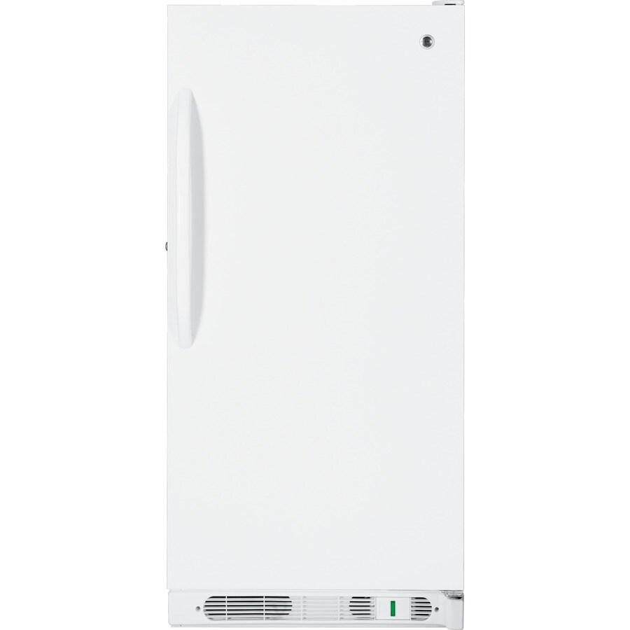GE 14.1-cu ft Upright Freezer (White)