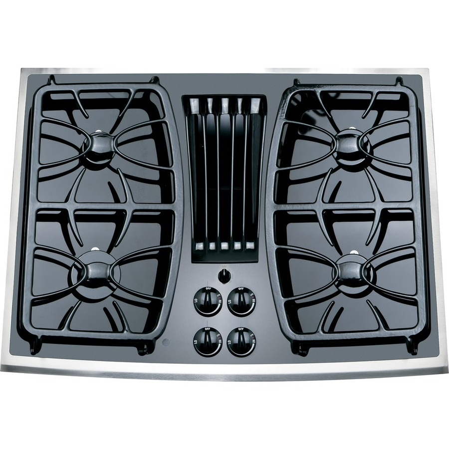 ge profile 4burner downdraft gas cooktop stainless common 30