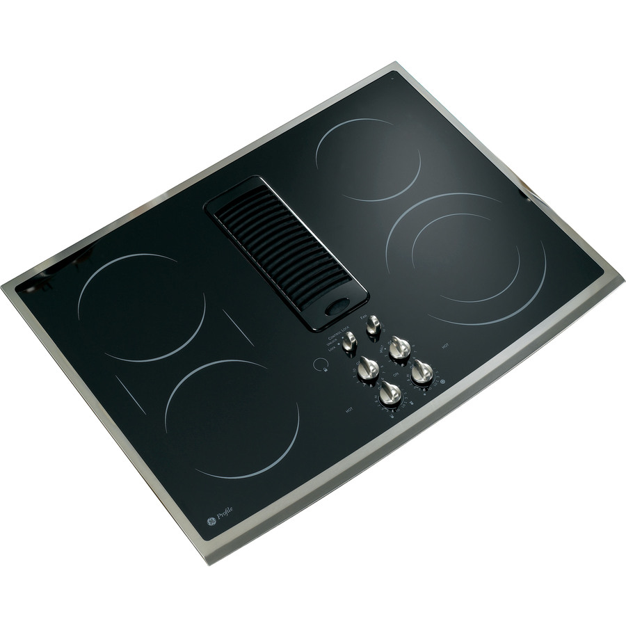 GE Profile 5-Element Smooth Surface Downdraft Electric Cooktop (Stainless Steel) (Common: 30-in; Actual 30-in)