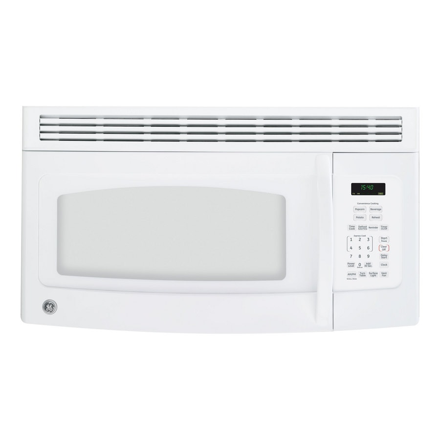 GE 1.5-cu ft Over-The-Range Microwave (White) (Common: 30-in; Actual: 29.87-in)
