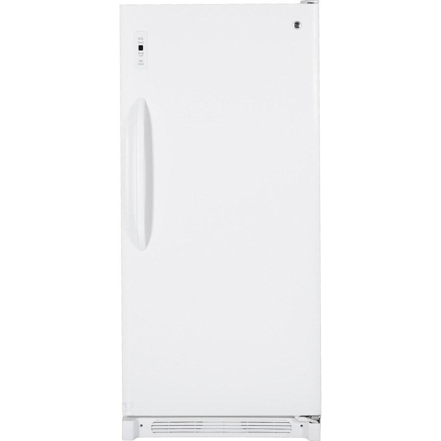 GE 20.5-cu ft Upright Freezer (White)