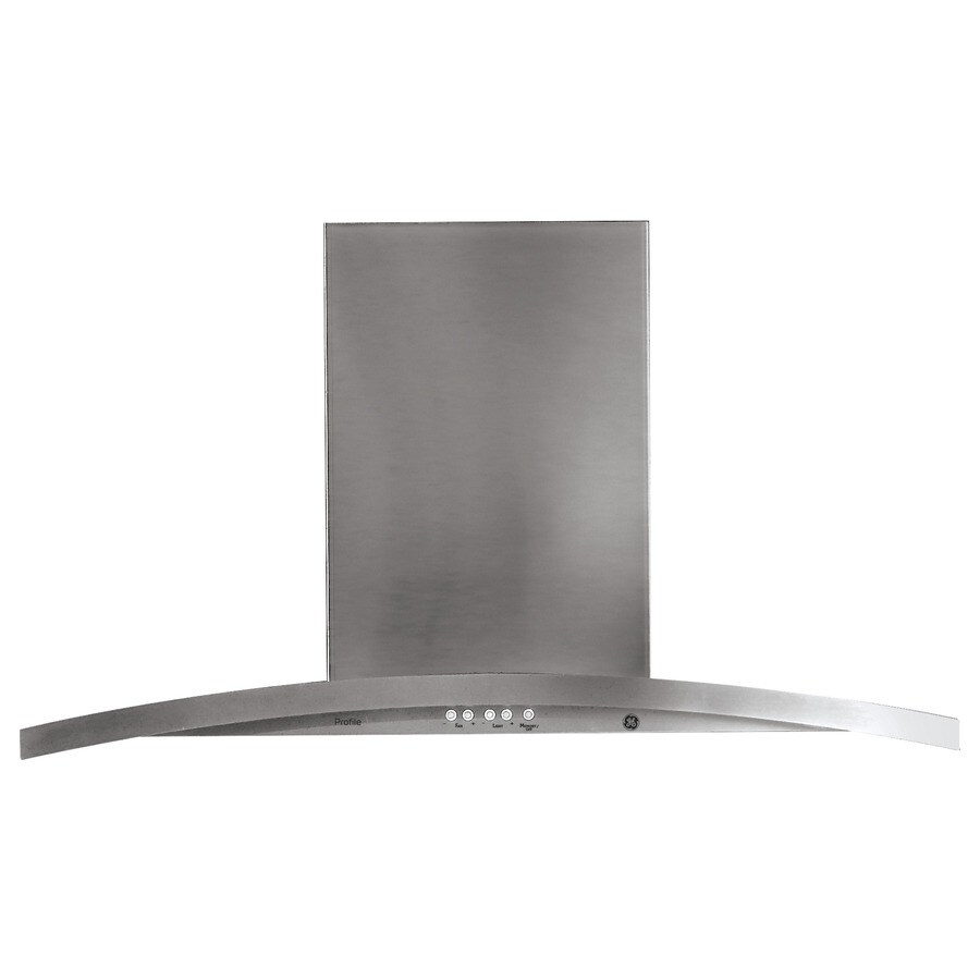 GE Profile Ducted Island Range Hood (Stainless) (Common: 36-in; Actual: 35.875-in)