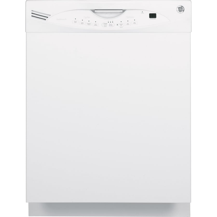 GE 24-in 56-Decibel Built-In Dishwasher with Stainless Steel Tub (White)