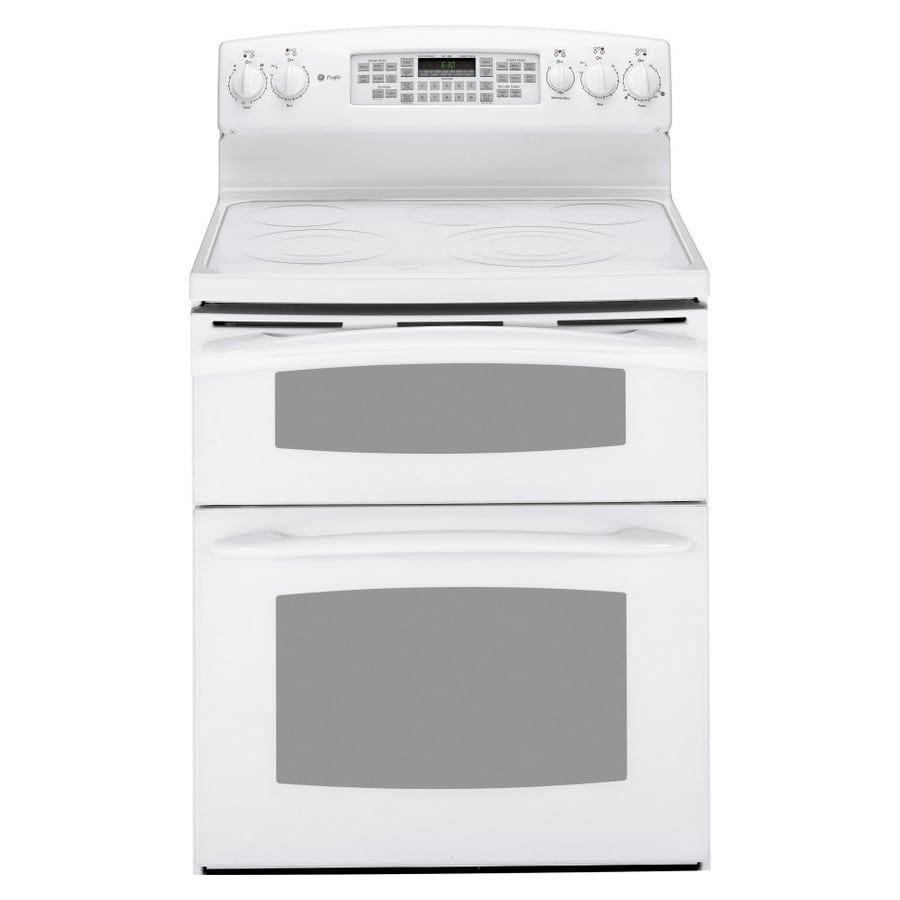 Ge Profile 30 Inch Smooth Surface Double Oven Electric Range Color White