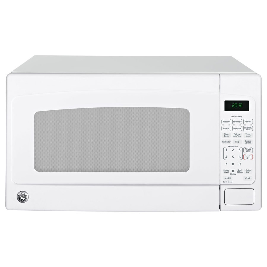 GE 2-cu ft 1,200-Watt Countertop Microwave (White)