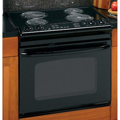 Ge 30 Inch Drop In Electric Range Color Black At Lowes