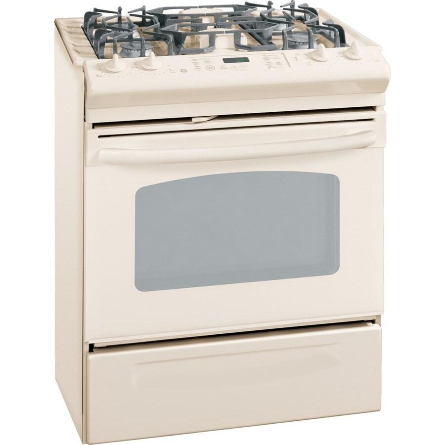 shop ge 30 inch 4 burner slide in gas range color bisque at. Black Bedroom Furniture Sets. Home Design Ideas
