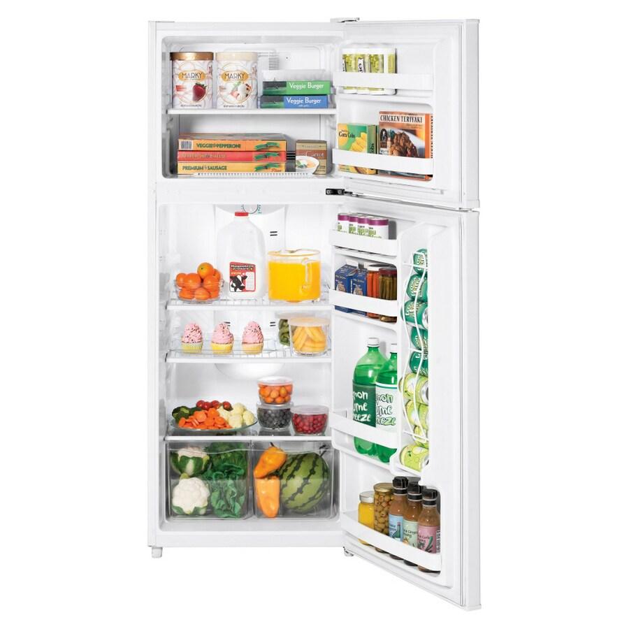 refrigerator 10 cu ft. ge 10 cu. ft. top freezer refrigerator (color: white) cu ft