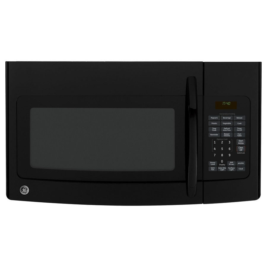 GE 1.7-cu ft Over-The-Range Microwave (Black) (Common: 30-in; Actual: 29.87-in)