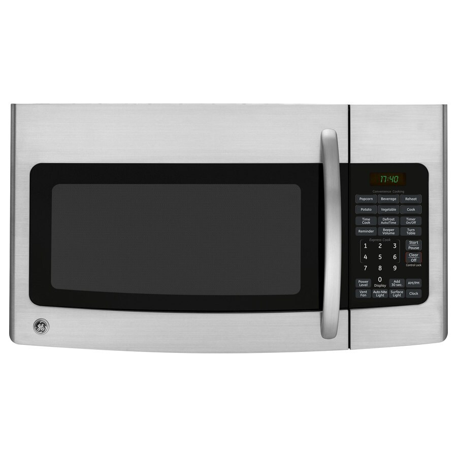 GE 1.7-cu ft Over-the-Range Microwave (Stainless steel) (Common: 30-in; Actual: 29.87-in)