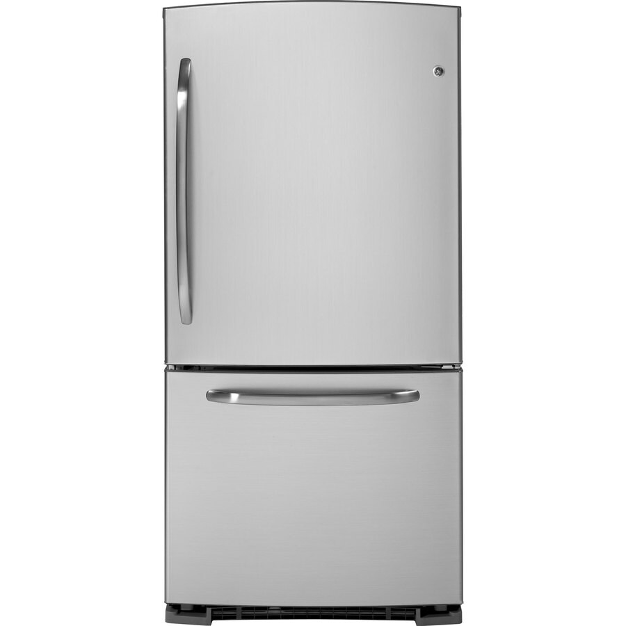 GE 22.7 cu ft Bottom Freezer Refrigerator (CleanSteel) ENERGY STAR