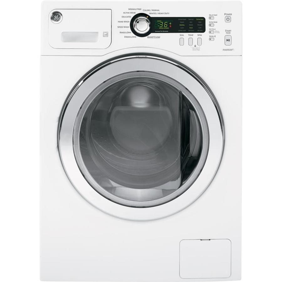 GE 2.2-cu ft High-Efficiency Stackable Front-Load Washer (White)