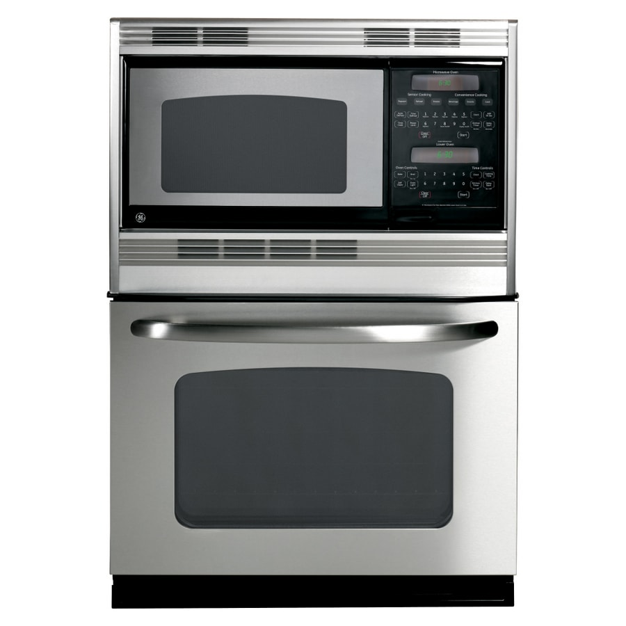 Ge Self Cleaning Microwave Wall Oven Combo Stainless Steel Common 30