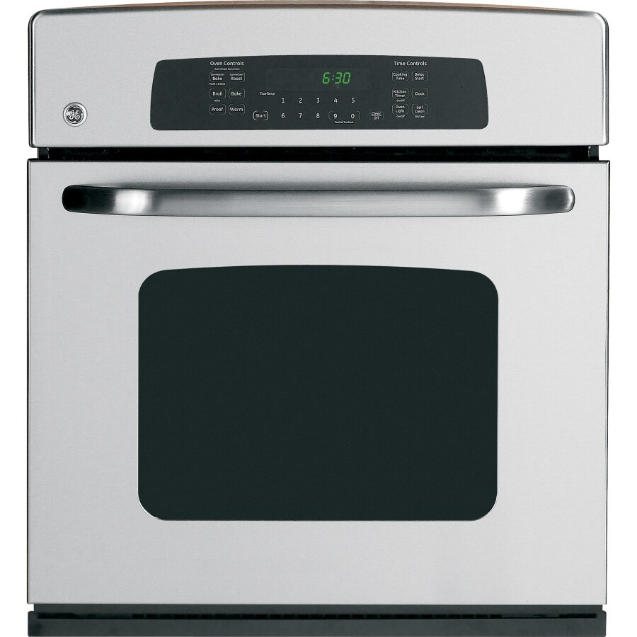 GE 27-in Self-Cleaning Convection Single Electric Wall Oven (Stainless Steel)
