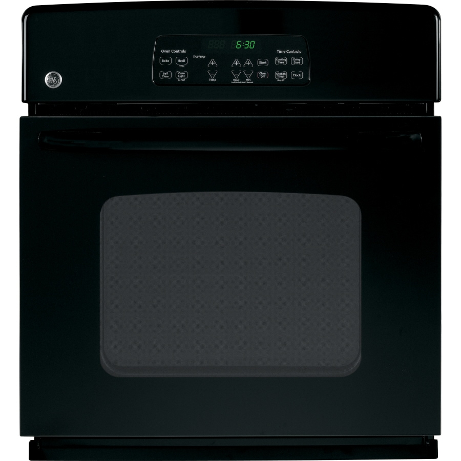 GE 27-in Self-Cleaning Single Electric Wall Oven (Black)