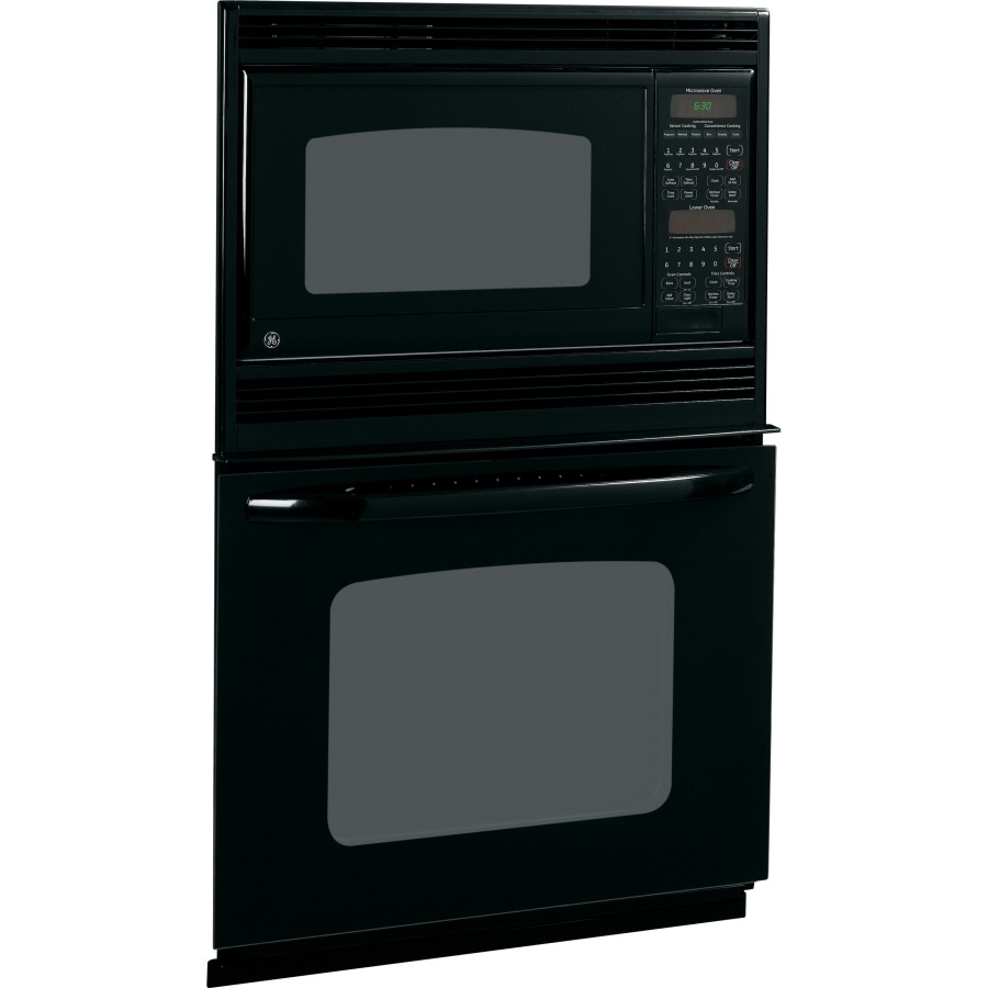 Ge Self Cleaning Microwave Wall Oven Combo Black On Common
