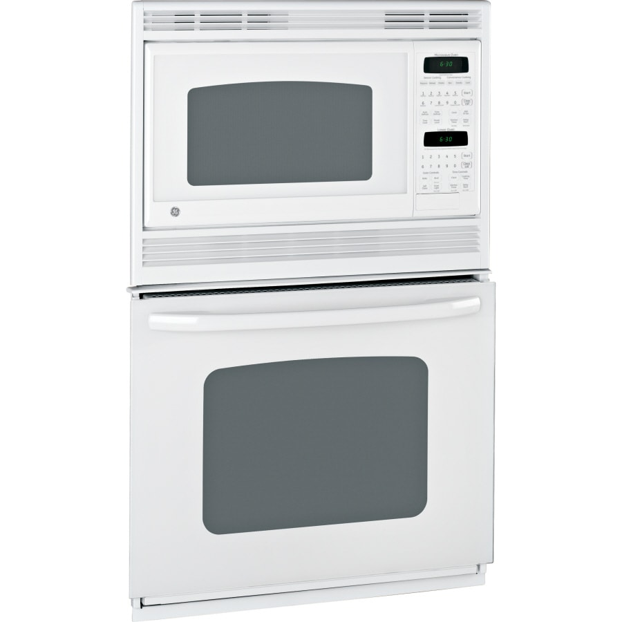 Ge Self Cleaning Microwave Wall Oven Combo White On Common