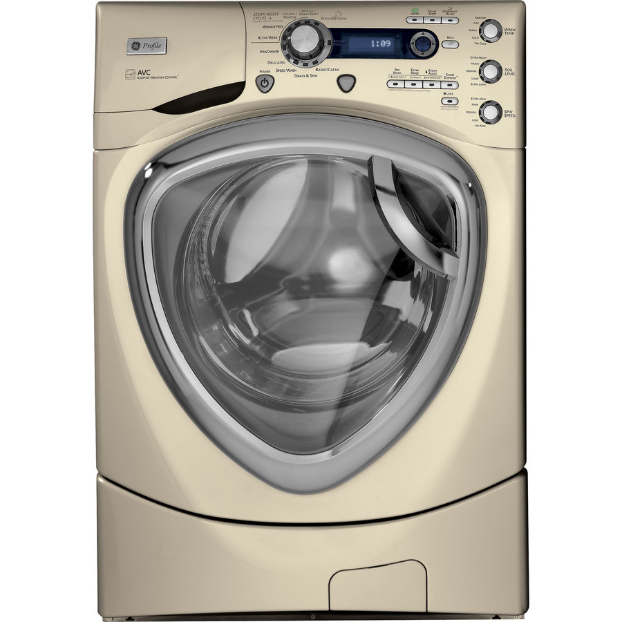 GE Profile 4.3-cu ft High-Efficiency Front-Load Washer with Steam Cycle (Champagne) ENERGY STAR