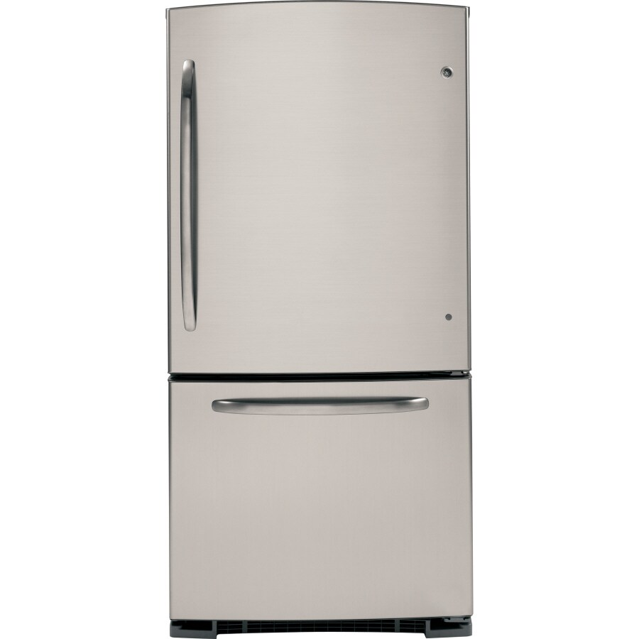 GE 20.3 cu ft Bottom Freezer Refrigerator (CleanSteel) ENERGY STAR