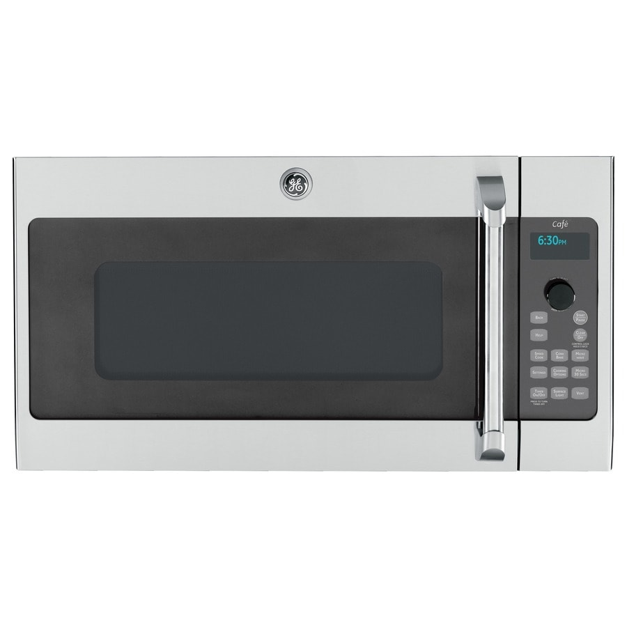 GE Cafe Advantium 1.7-cu ft Over-the-Range Convection Microwave with Sensor Cooking Controls and Speed Cook (Stainless steel) (Common: 30-in; Actual: 29.9375-in)