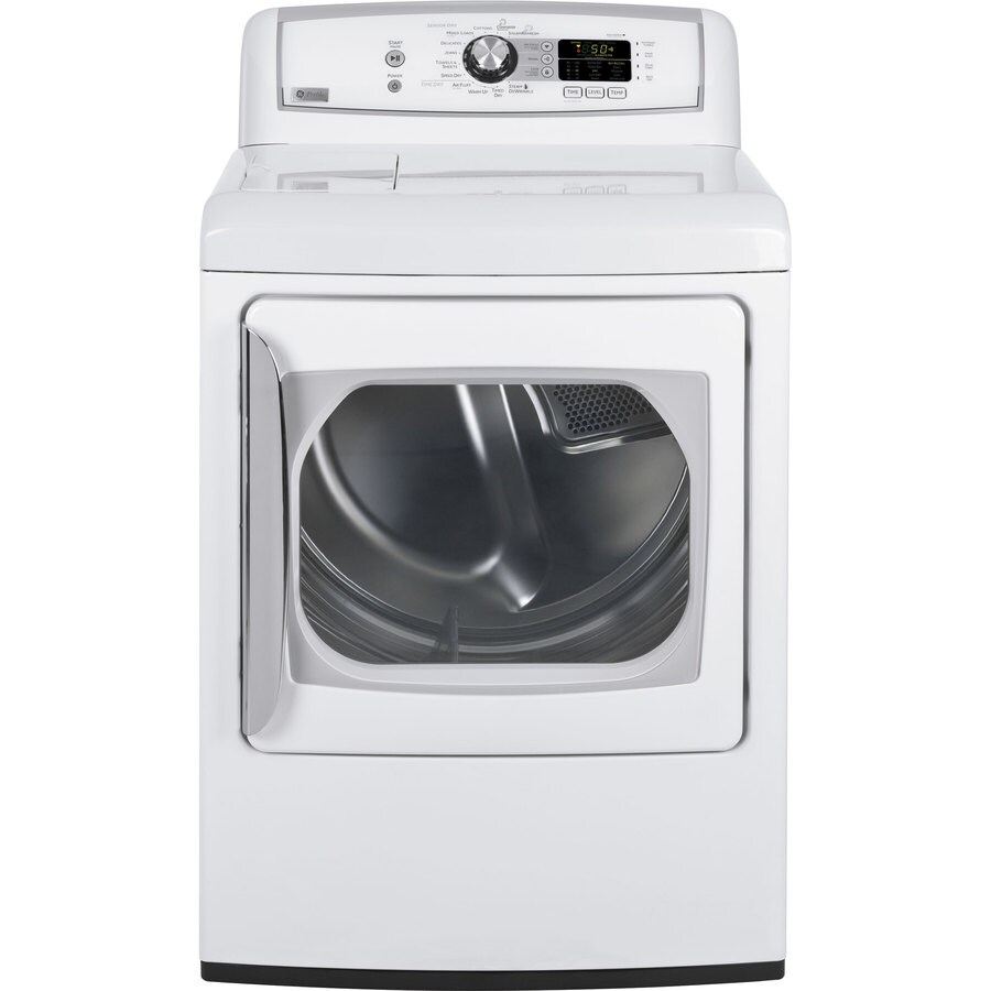 ge profile 73cu ft electric dryer white