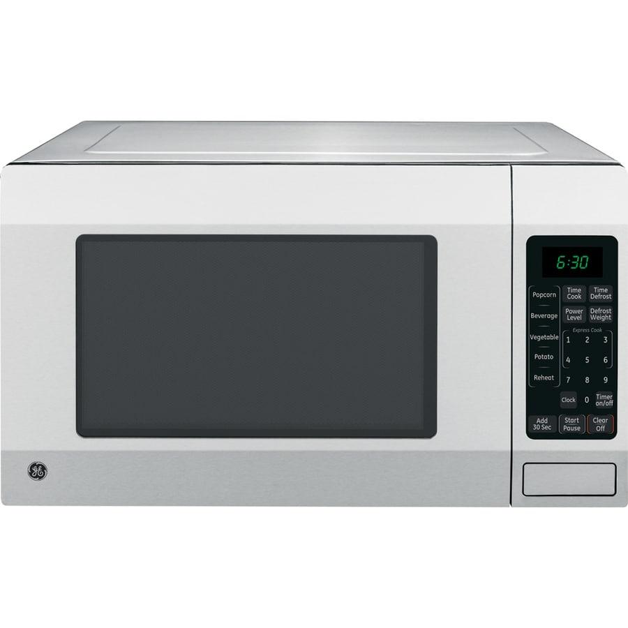 GE 1.6-cu ft 1,150-Watt Countertop Microwave (Stainless)
