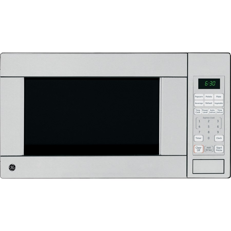 GE 1.1-cu ft 1,100-Watt Countertop Microwave (Stainless)