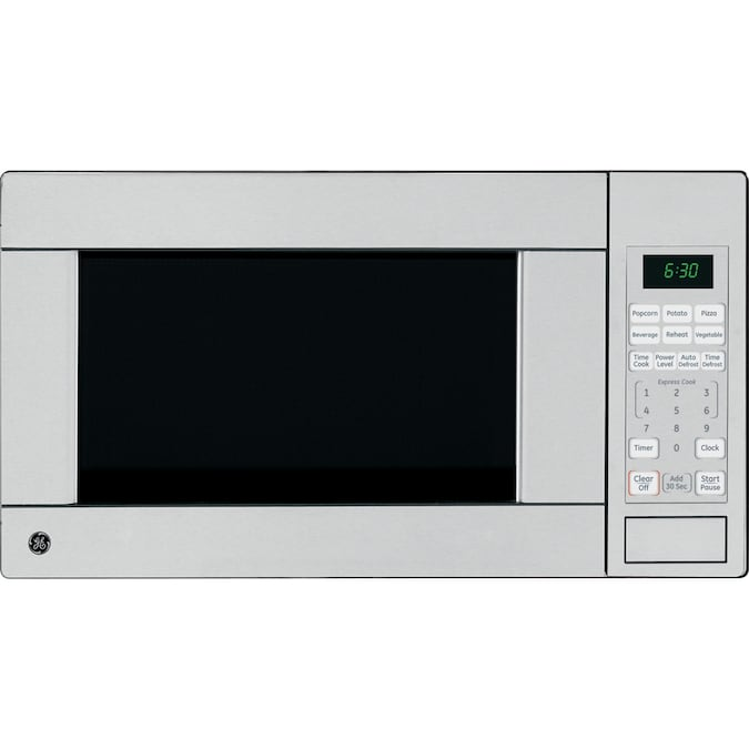 Ge 1 1 Cu Ft 1100 Watt Countertop Microwave Stainless At Lowes Com