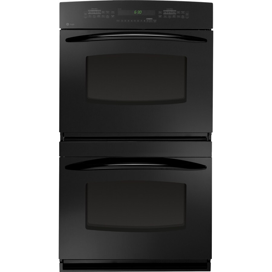 GE Profile 30-in Self-Cleaning Convection Double Electric Wall Oven (Black)