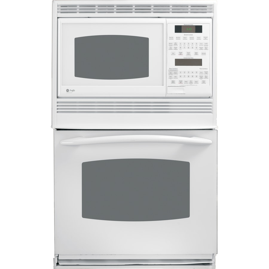 Wall Oven Microwave Combo White: Shop GE Profile Self-Cleaning Microwave Wall Oven Combo