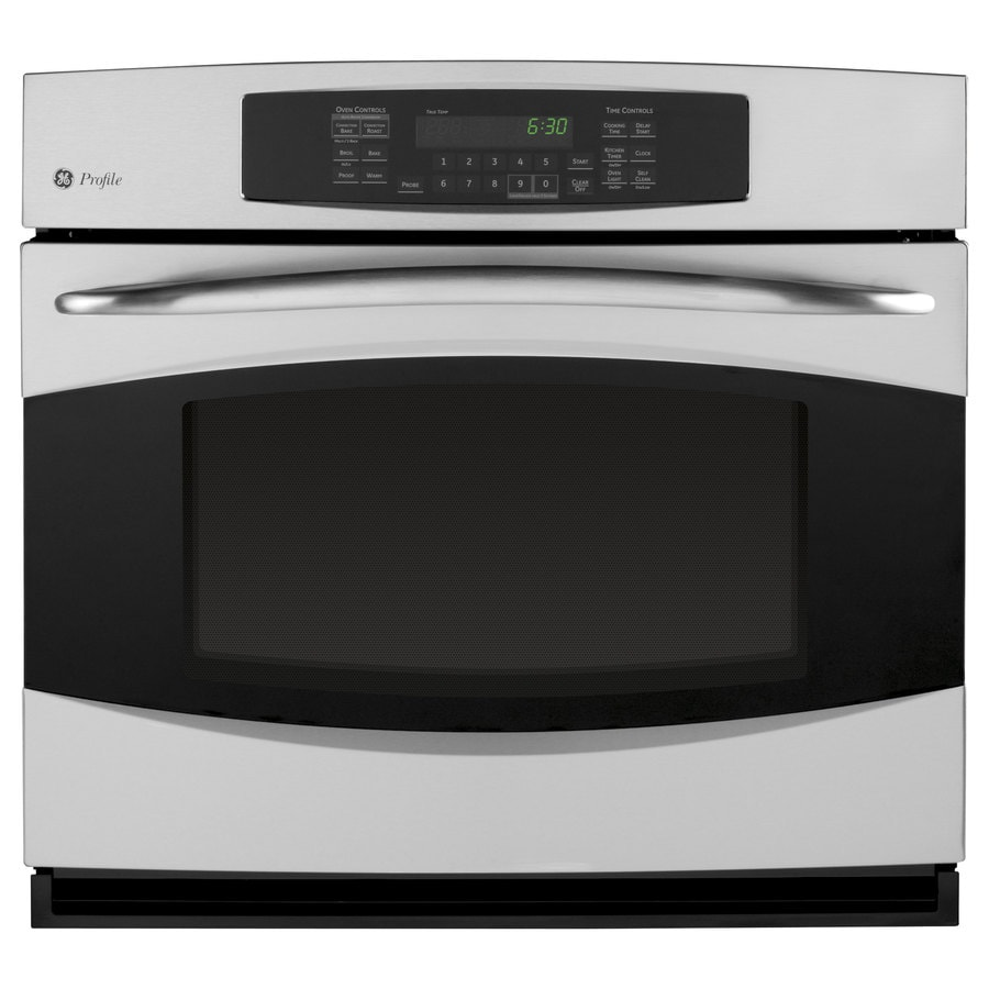 GE Profile 30-in Self-Cleaning Convection Single Electric Wall Oven (Stainless Steel)