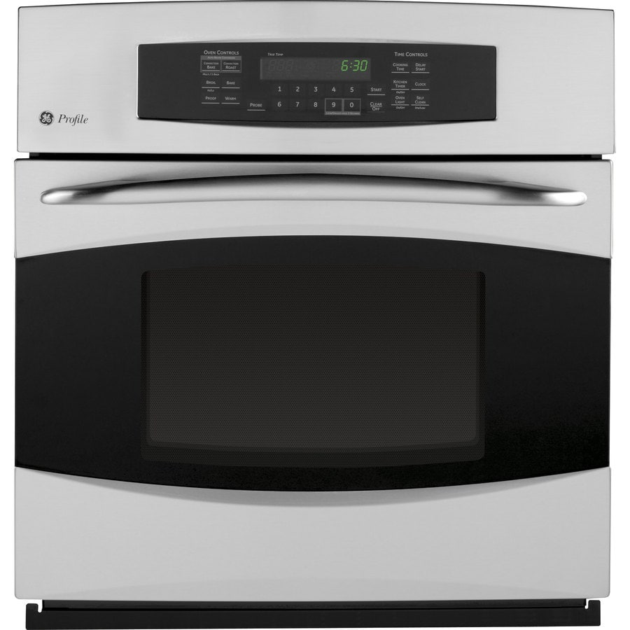 GE Profile 27-in Self-Cleaning Convection Single Electric Wall Oven (Stainless Steel)