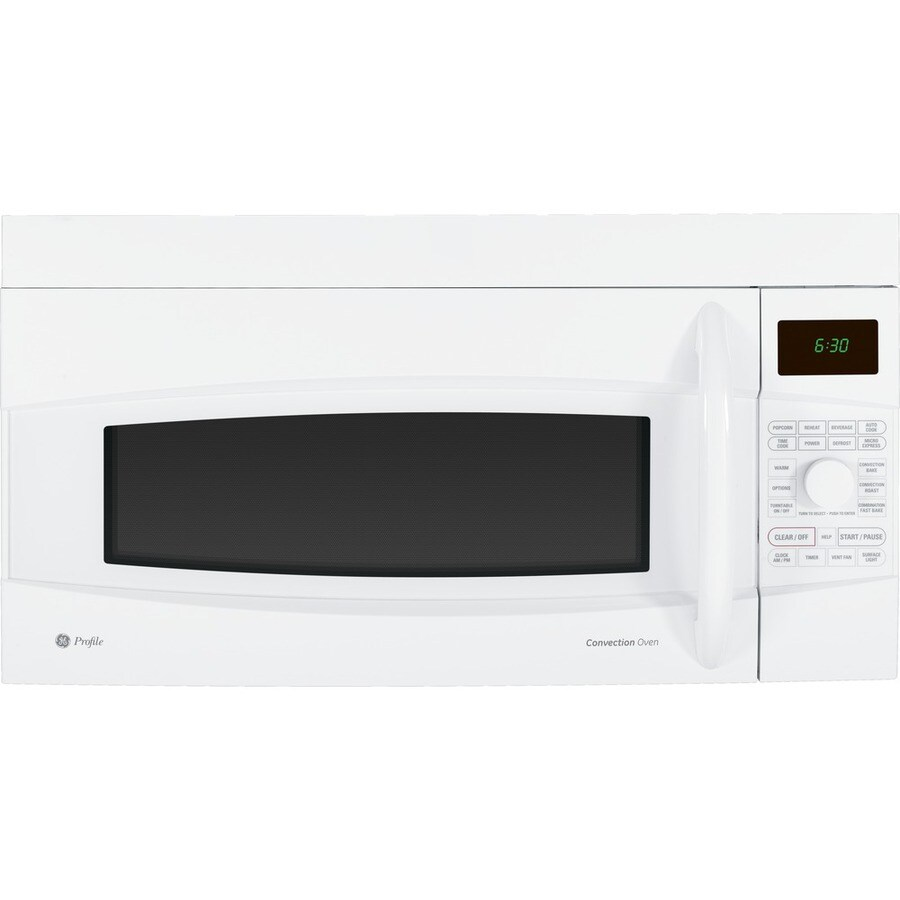 GE Profile 1.7 cu ft Over-the-Range Convection Oven Microwave (White)