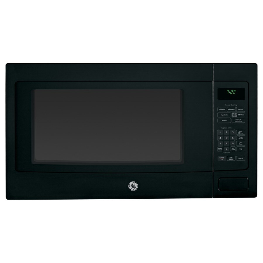 GE Profile 2.2-cu ft 1,100-Watt Countertop Microwave (Black)