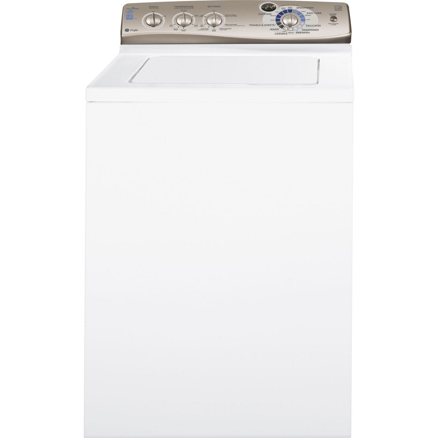 GE Profile 3.6-cu ft High-Efficiency Top-Load Washer (Titanium on White)