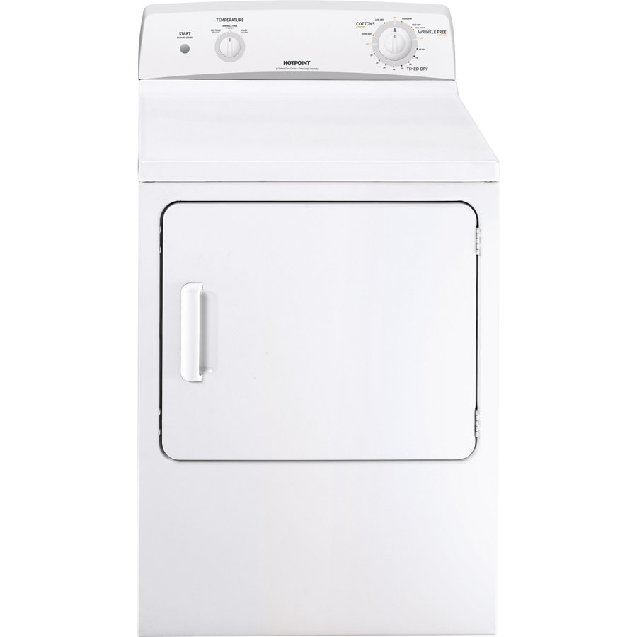 Shop Hotpoint 6cu ft Electric Dryer White at Lowescom