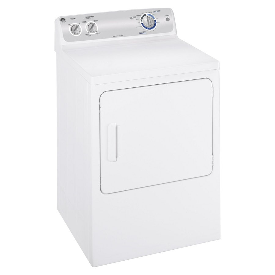 ge 7cu ft electric dryer white on white