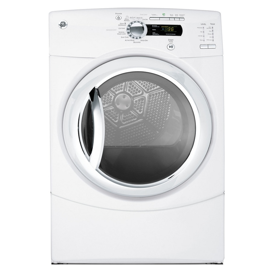 ge 75cu ft stackable electric dryer white